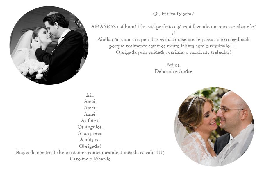 DEPOIMENTOS debeAndre carolsanselme ericardo fotografia casamento sp sÃ
